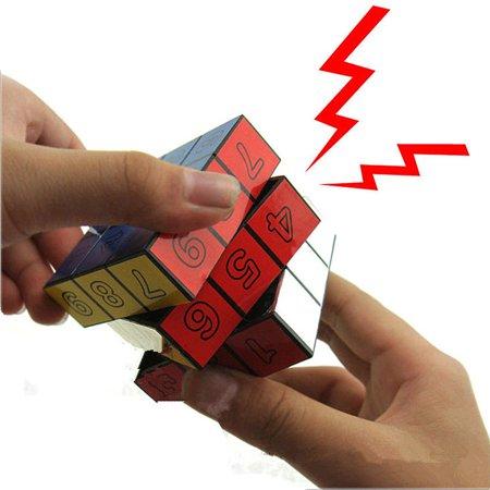 1X Shocking Electric Shock Novelty Rubiks Cube Prank Trick Joke Toy Gift Fun](Fun Harmless Halloween Pranks)