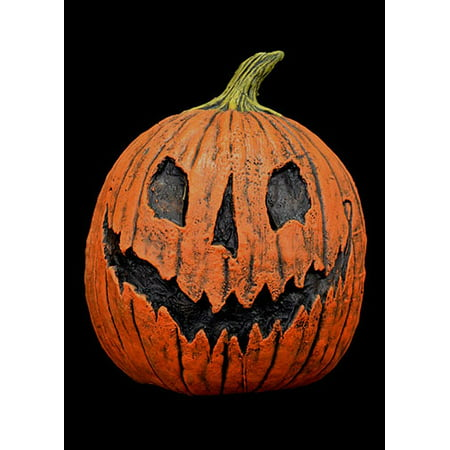 Trick or Treat Scary King Pumpkin Halloween Full Head Mask, Orange, One-Size (Pumpkin Head Halloween Dance)