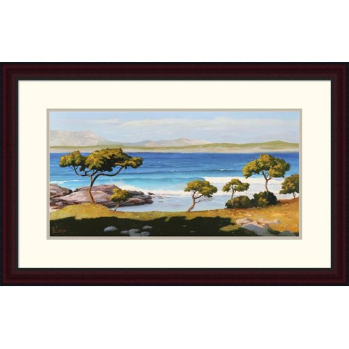 Global Gallery 'Spiaggia Del Mediterraneo' by Adriano Galasso Framed Graphic Art