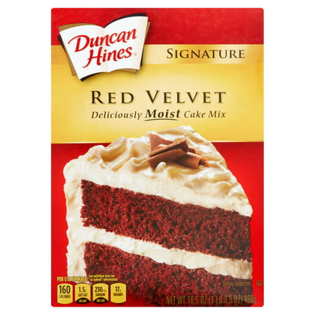 Duncan Hines Signature Red Velvet Moist Cake Mix 165 Oz