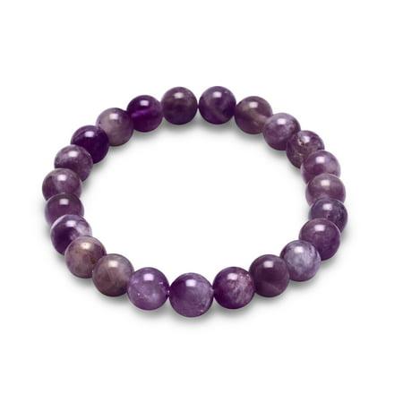 8mm Amethyst Bead Stretch Bracelet