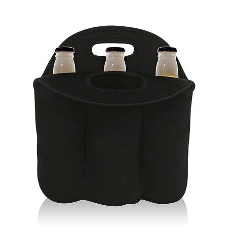 Wealers 3 Bottle Neoprene Protection Tote Bag Holder for Travel/picnic Carrying Red,white Wine Bottle (Neoprene Wine Tote Bag)