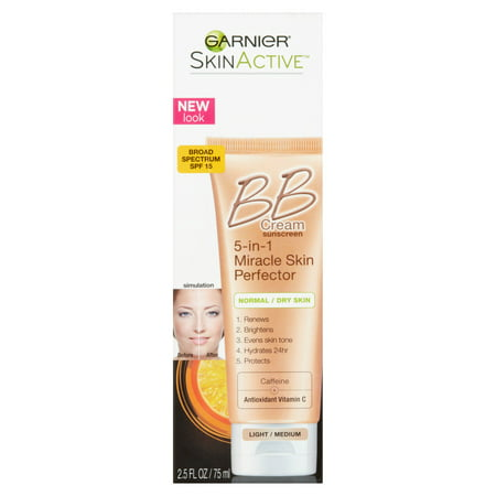 Garnier SkinActive Light/Medium BB Cream Sunscreen Broad Spectrum, SPF 15, 2.5 fl