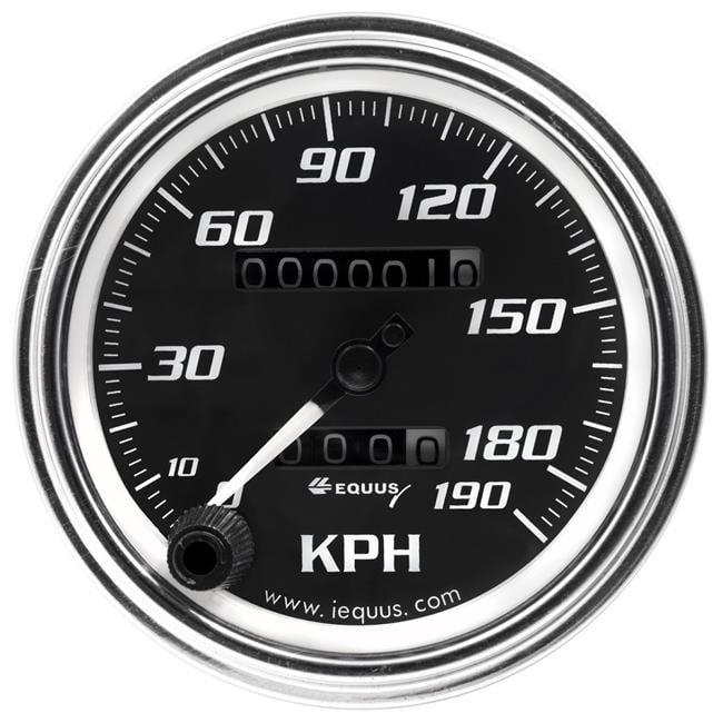 3.37 in. Chrome Mechanical KPH Speedometer