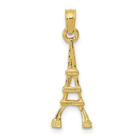 14K Yellow Gold Eiffel Tower Pendant - image 2 of 2