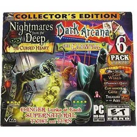 Mystery Master Nightmares from Deep, Dark Arcana, The Lost World, Treasure of the Ages, Cliff Hanger Castle, Pharaoh's Quest -