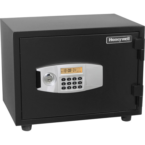 Honeywell 0.57 cu ft Water-Resistant Steel Fire and Security Safe, Black