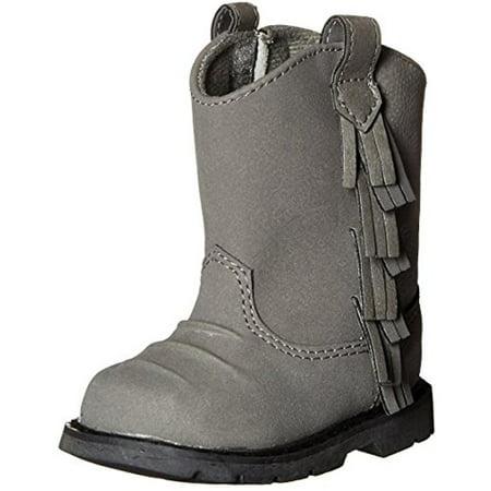 Western Bay - Baby Deer Fringe Western Boots
