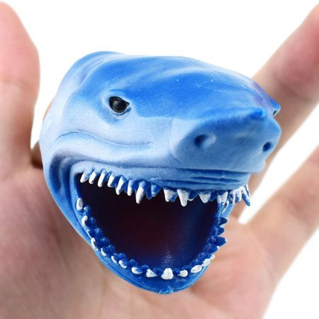 3.3in Shark Finger Puppet Baby Infant Kid Toys Silica Gel Spoof (Zombie Baby Puppet)