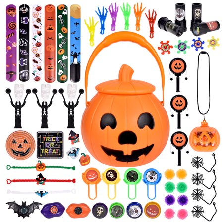60 PCs Halloween Party Favors For Kids, Novelty Bulk Toys Assortment for Halloween Treats and Prizes, Goodie Bag Fillers F-255