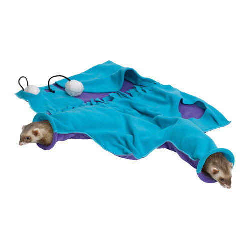 Midwest Homes For Pets Ferret Nation Accessories Busy Body Blankie in Teal and Purple