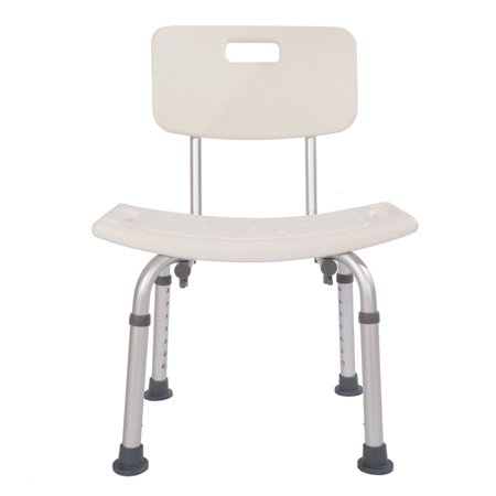 Shower Chair for Elderly Bath Chair with Back, Durable Adjustable Shower Bench, Spa Bathtub White Shower Lift Chair](Baby Shower Chairs For Sale)