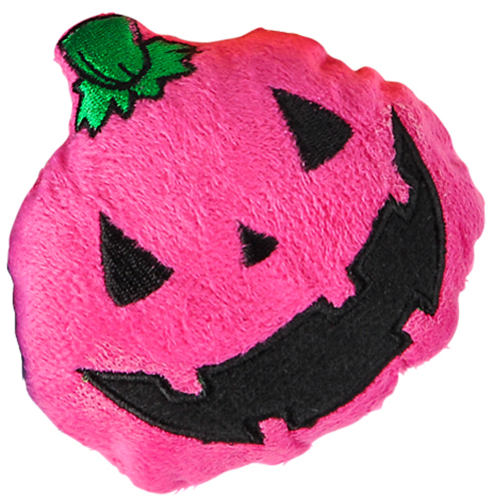 "Plush Pink 5"" Stuffed Pumpkin Carved Jack-O-Lantern Halloween Decoration"