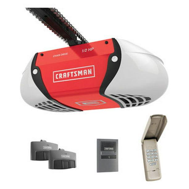 Craftsman Chain Drive Garage Door Opener 1 2hp With Remotes 00954985 Walmart Com Walmart Com