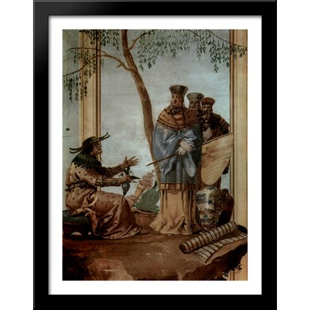 Chinese Prince In Fortune Tellers 28X36 Large Black Wood Framed Print Art By Giovanni Domenico Tiepolo