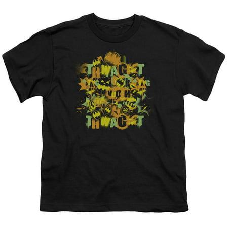 Batman - Halloween Knight Sounds - Youth Short Sleeve Shirt - Small