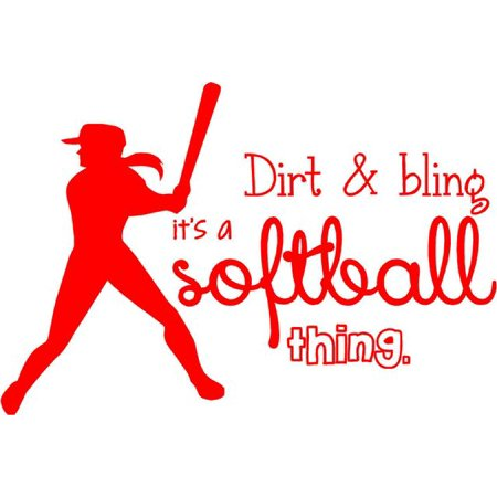 Fabulous Softball Wall Lettering Vinyl Girls Decal Decor Art Teen Sports Room Quote 20X16 Cc6 Download Free Architecture Designs Barepgrimeyleaguecom