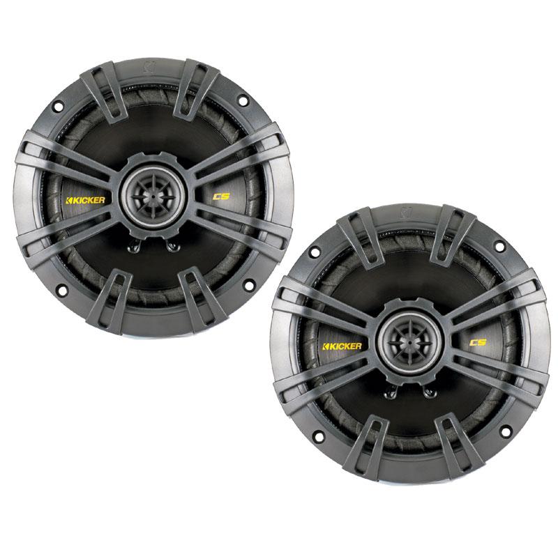 """Kicker 40CS654 Car Audio Coaxial 6 1/2"""" Speakers CS65 (Certified Refurbished) - Factory Certified Refurbished"""