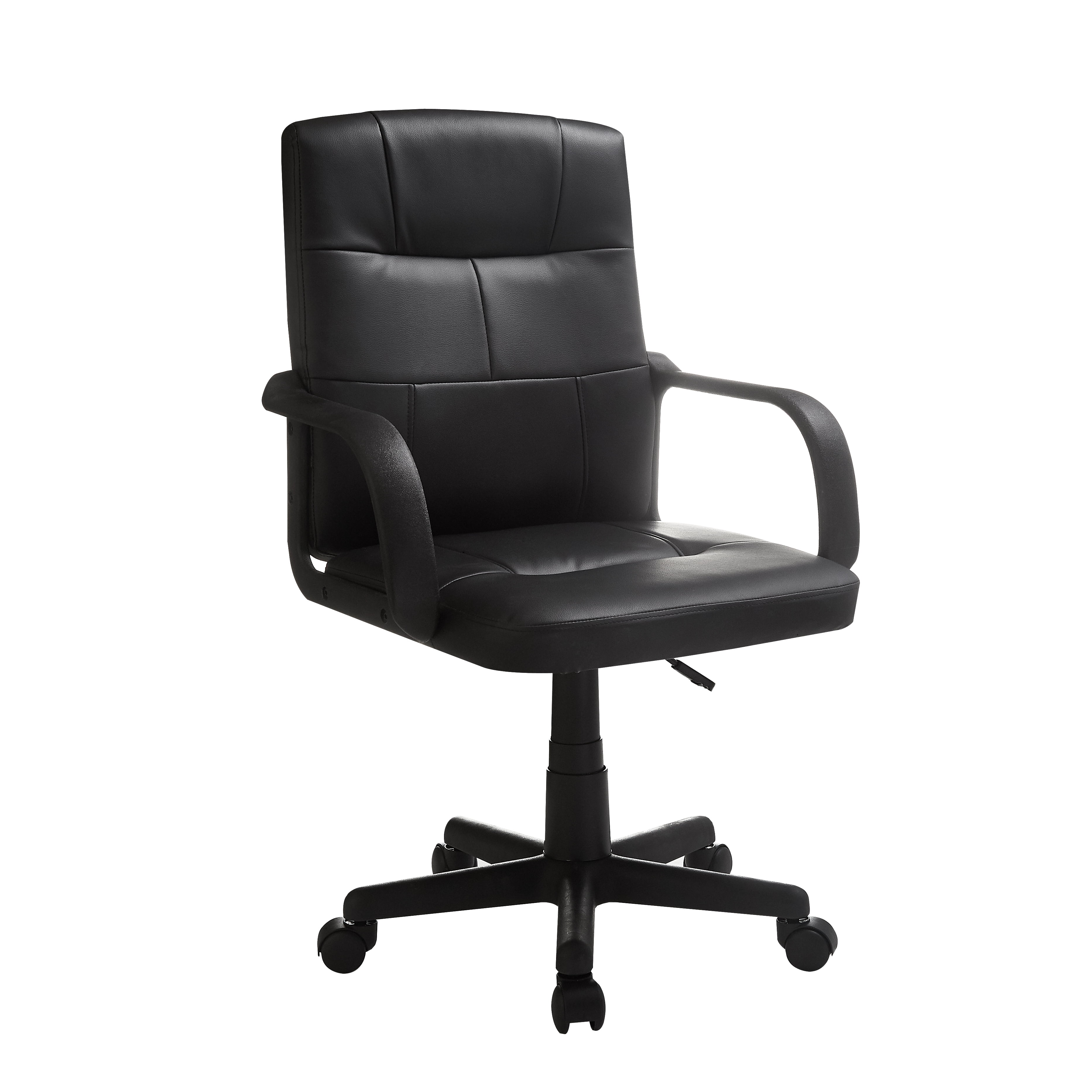 Mainstays Tufted Leather Mid Back Office Chair Multiple Colors Walmart Com Walmart Com