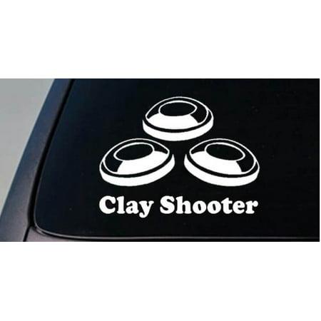 Clay Shooter pigeon target shotgun shell *D749* 2A STICKER DECAL 2A MOLON