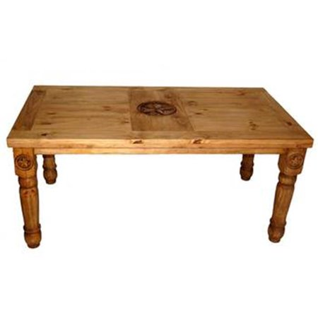 Million Dollar Rustic 03-1-10-5-4 5 Ft. Table With Star On Top & Leg