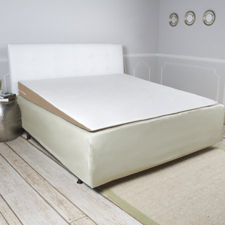 Foam Mattress Bed Pad - Avana Incline Memory Foam Mattress Topper Wedge, Queen-Size Bed
