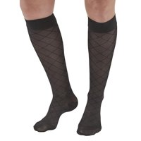 Ames Walker AW Style 17 Sheer Support Diamond Pattern 15-20 CT Knee Highs Nu XL