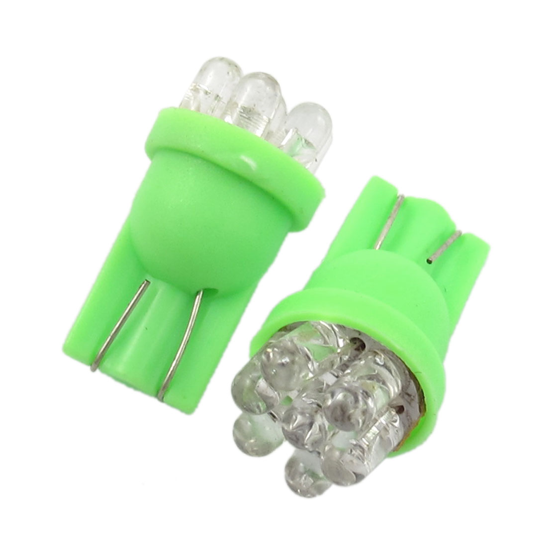 2 x Green 7 LED Light T10 194 168 W5W Side Marker Lamp Bulbs for Vehicle