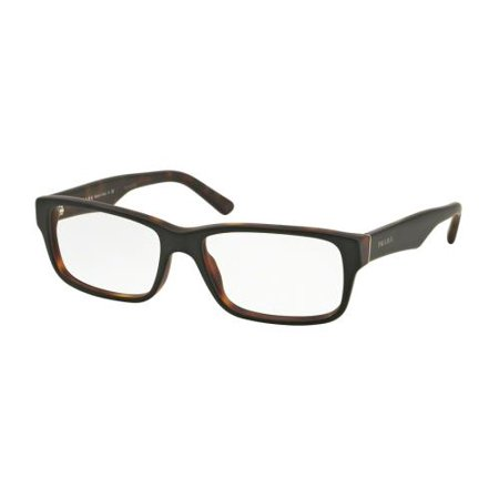 9e0f9fce089 Prada 0PR 16MV Optical Full Rim Rectangle Unisex Eyeglasses - Size 53 (Top  Black Transparent   Clear Lens) - Walmart.com