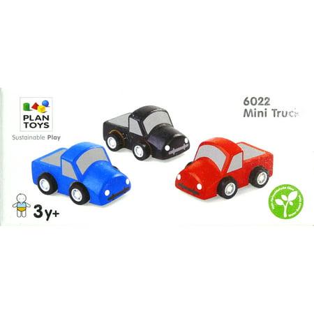 Plan Toys Set of 3 Wooden Mini Trucks (Free Wooden Toy Plans)