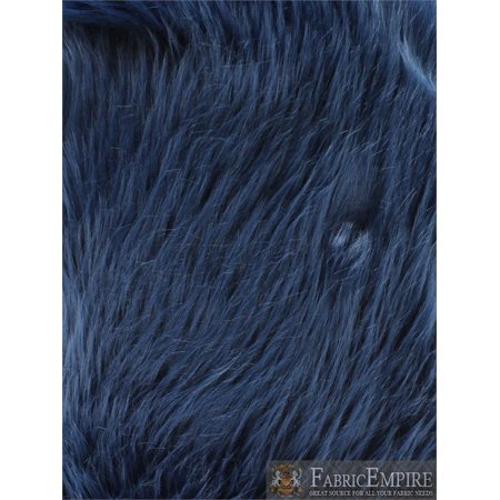 Faux Fur Long Pile Shaggy NAVY / 60