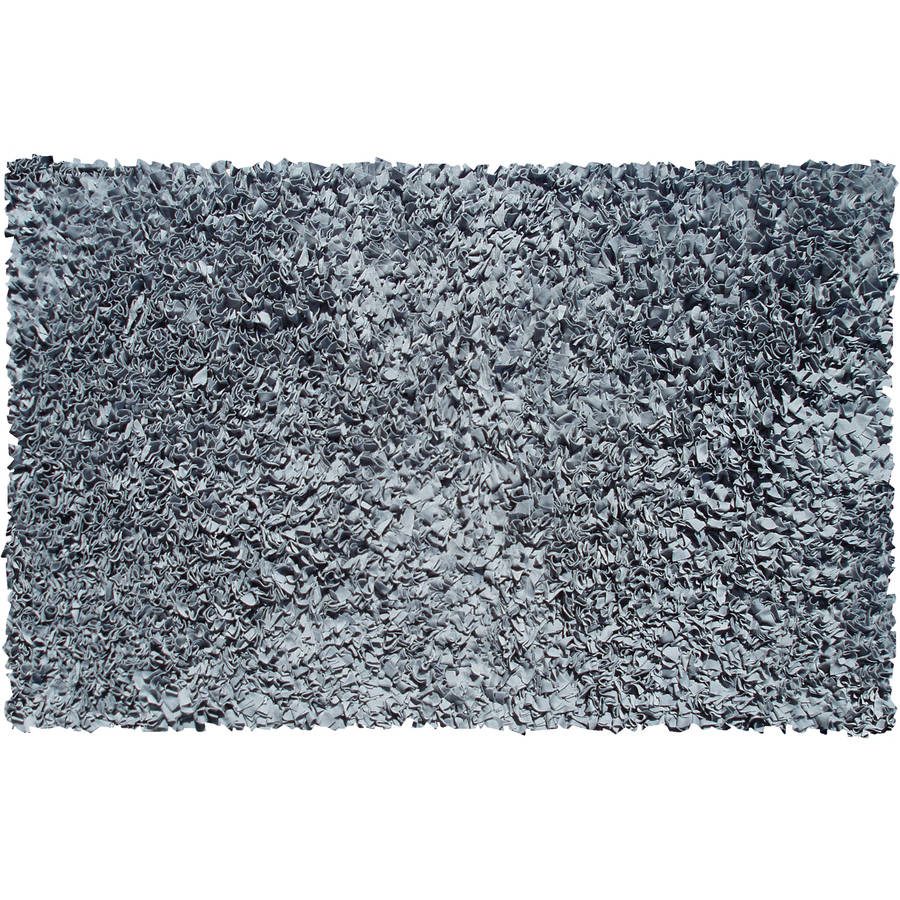The Rug Market Shaggy Raggy Grey Area Rug, Size 4.7' x 7.7'