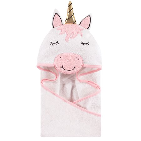 Hudson Baby Boy and Girl Animal Face Hooded Towel, Modern Unicorn](Towels For Boys)
