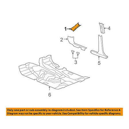 Jeep CHRYSLER OEM 08-12 Liberty Interior-Wndshld Pillar Trim Right 1BS28DW1AE