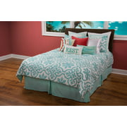 Rizzy Home BT1327 TEAL Cotton King Three Piece Bedding Set