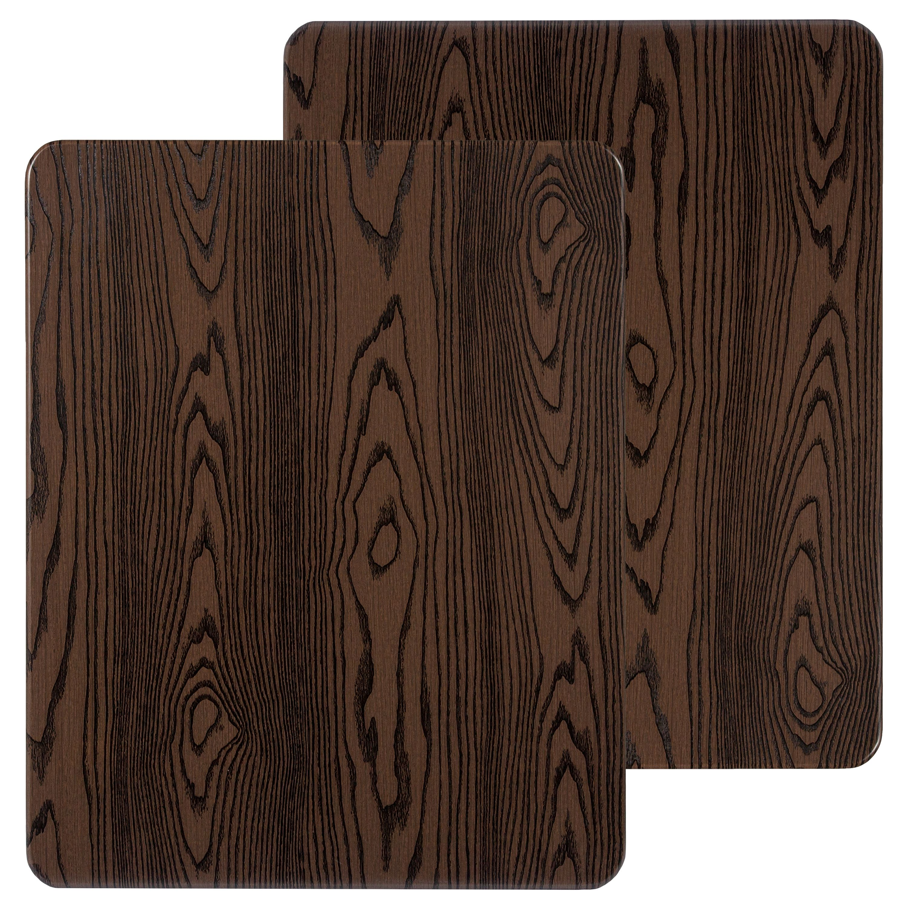 "Flash Furniture 2 Pk. 24"" x 30"" Rectangular Rustic Wood Laminate Table Top"