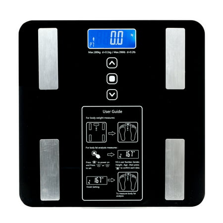 Upgraded 2019 Bluetooth Body Fat Scale, scales digital weight and body fat Bathroom Wireless Weight Scale, Body Composition Analyzer with Smartphone App, 396 lbs - Black,