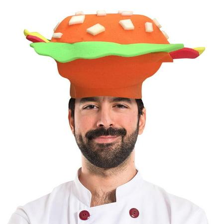 Hamburger Adult Foam Costume Hat - One Size - Hamburger Hat