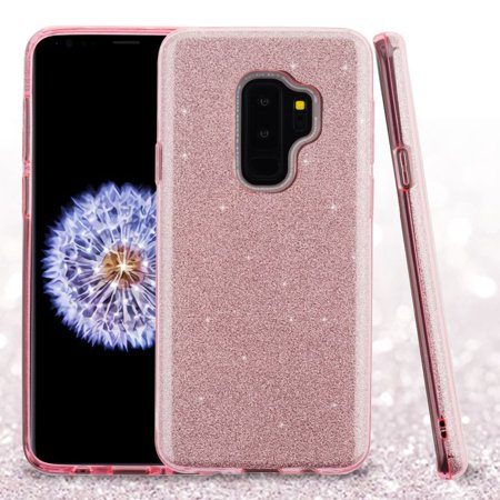 Insten Glitter Hard Snap-in Case Cover For Samsung Galaxy S9 Plus S9+ - Pink (Bundle with USB Type C Cable) - image 1 of 3