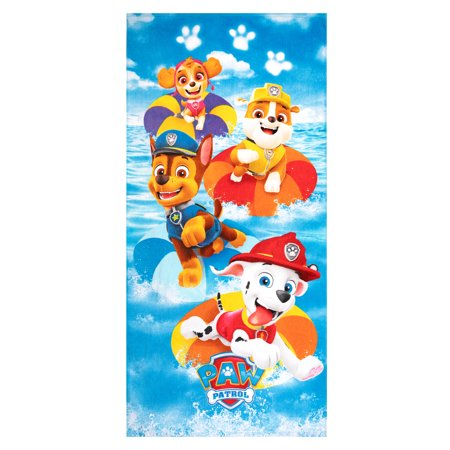 PAW Patrol Kids Super Soft Cotton Beach Towel, 28 x 58, Coastal Pups
