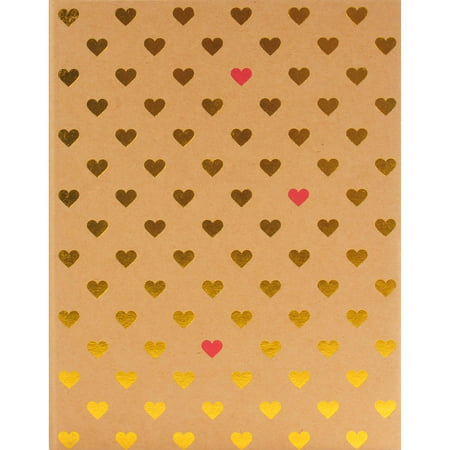 Pinnacle Gold Foil Hearts Photo Album, Holds 208 - 4