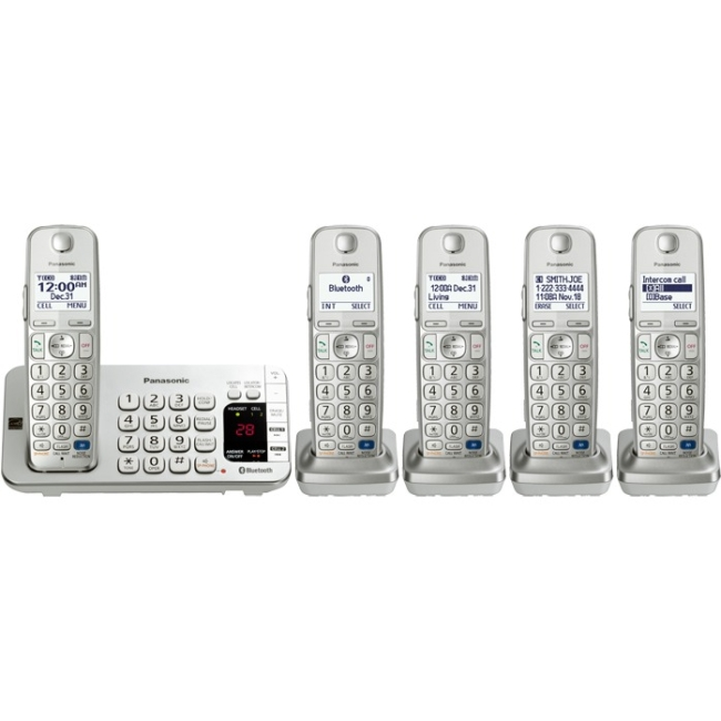 Panasonic KX-TGE275S Link2Cell Bluetooth Cellular Convergence Solution with 5 Handsets