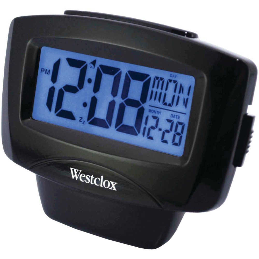 WESTCLOX 72020 Large Easy_to_Read LCD Alarm Clock with Da...