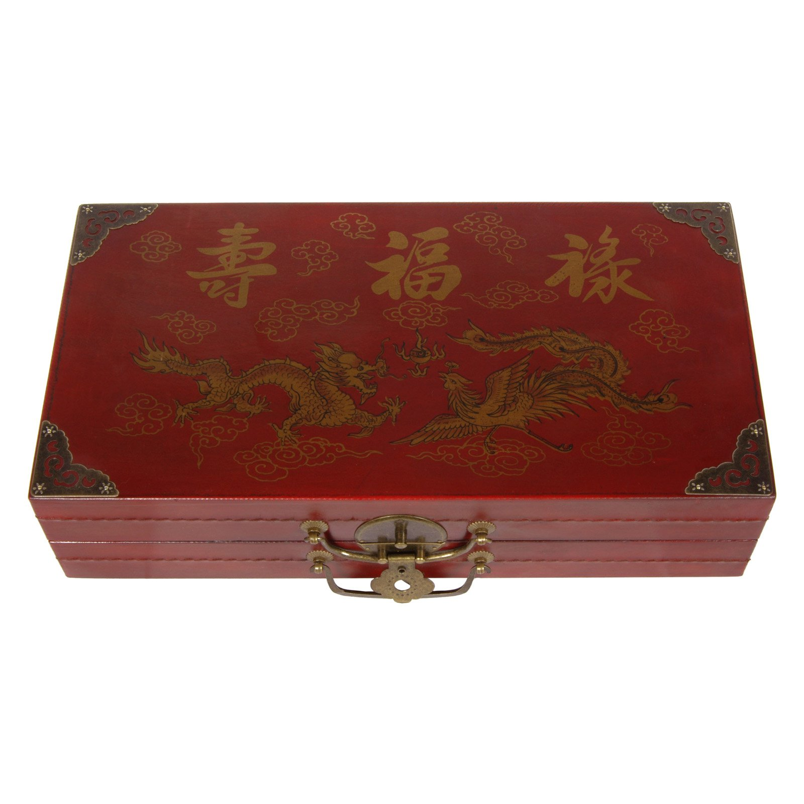 Oriental Furniture Chess Set Box Red by Oriental Unlimited, Inc.
