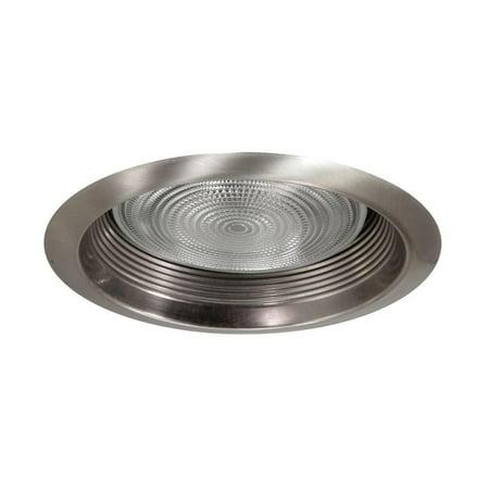 NICOR Lighting 6-Inch Airtight Recessed Cone Baffle Trim, Nickel (17550ANK) Aperture Cone Recessed Trim