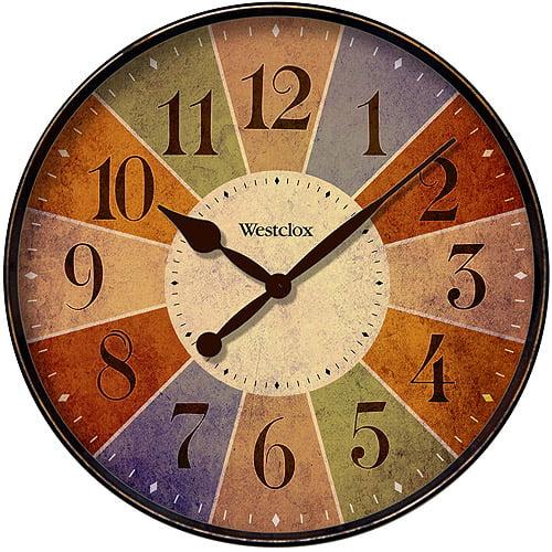 """Westclox 12"""" Multicolored Wall Clock"""