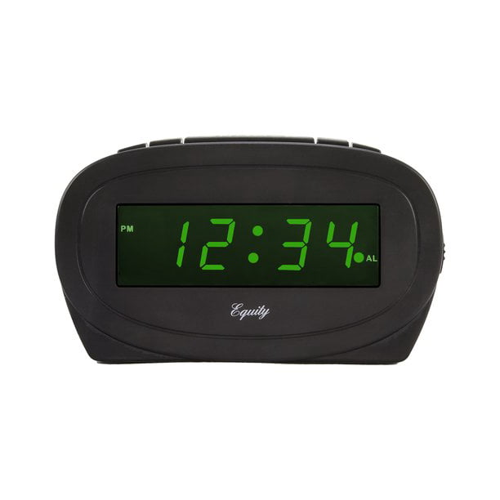 Equity By La Crosse 30226 Digital 0 60 In Green Led Electric Alarm Clock Walmart Com Walmart Com