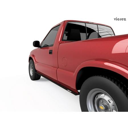 Vicrez Side Skirt Splitter VL Style vz101093 for 1994-2004 Chevrolet S-10 Long Bed Chevrolet S10 Styling