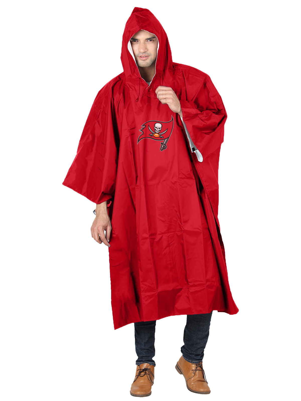 NFL Tampa Bay Buccaneers �Deluxe� 44�H x 49�W (Adult Size) Poncho by The Northwest Company
