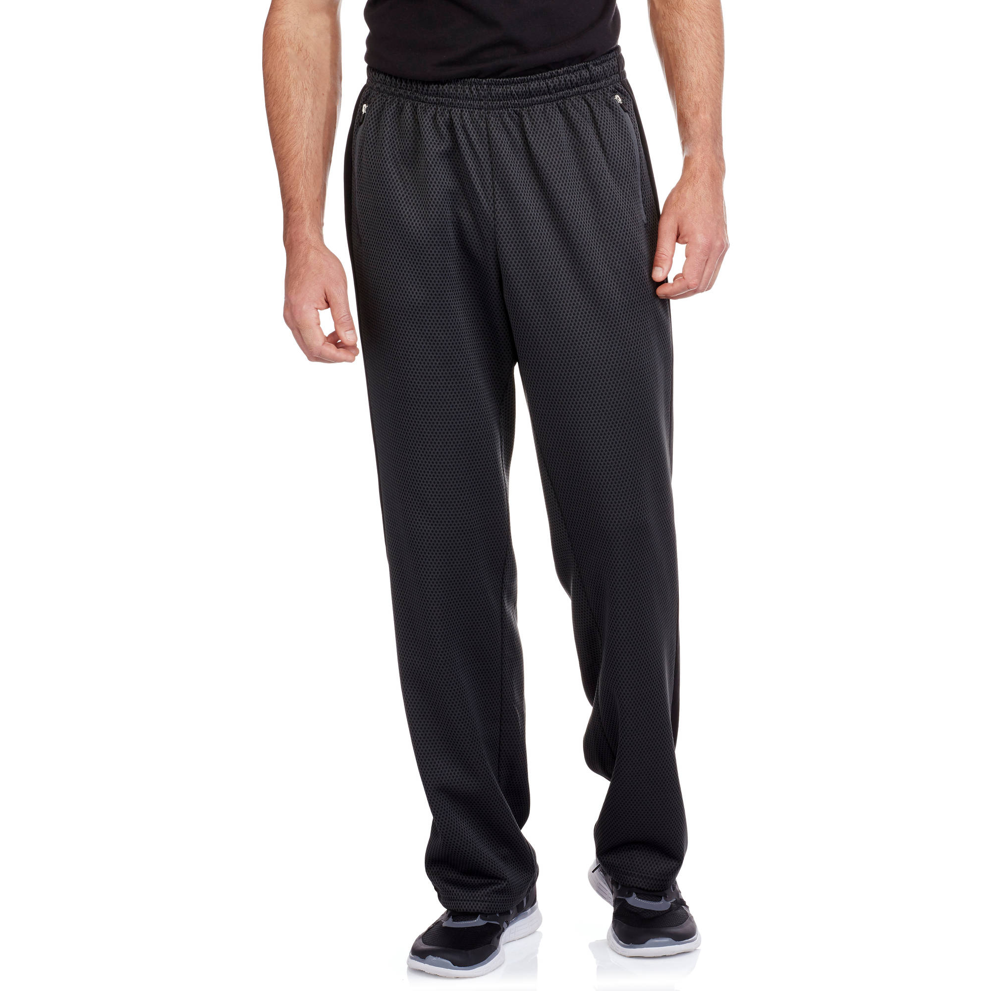 Textured Mesh Big Men's Performance Fleece Pant